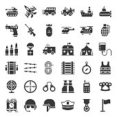 Military and weapons solid icon