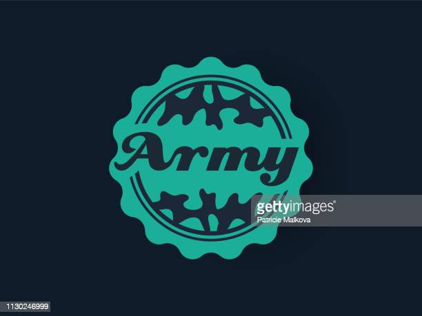 Military badge, vector army banner