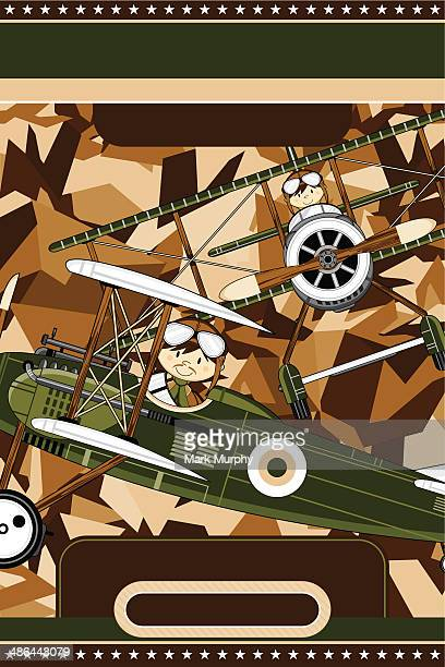Militaire Biplan & Airforce pilotes modèle