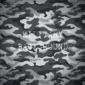 Military black and white background, vector illustration