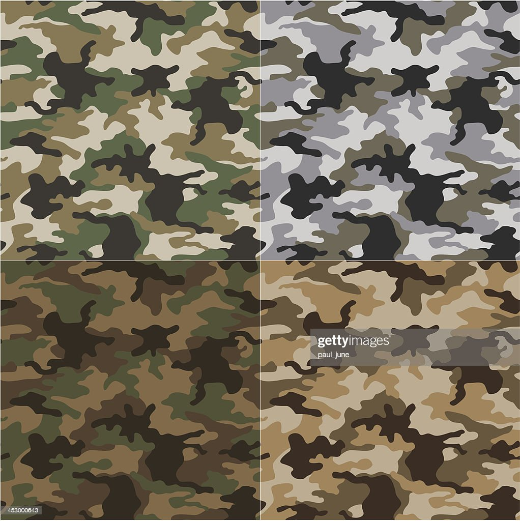 Military camouflage patterns of different shades