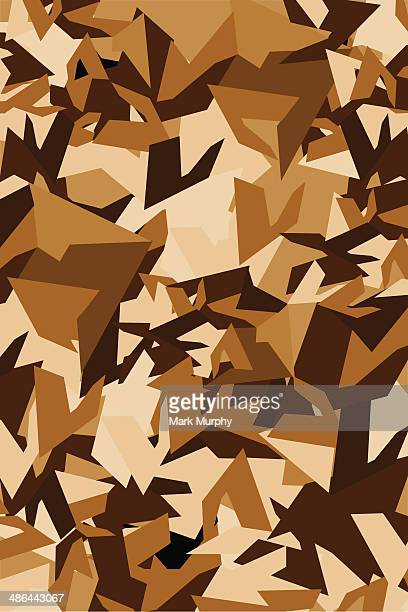 Style militaire motif Camouflage désert