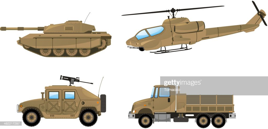 Military Desert Tank helicopter trunk land vehicle