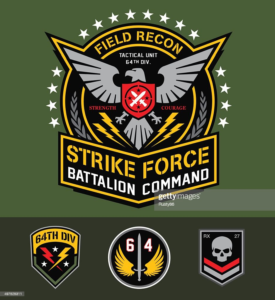 Military eagle graphic set