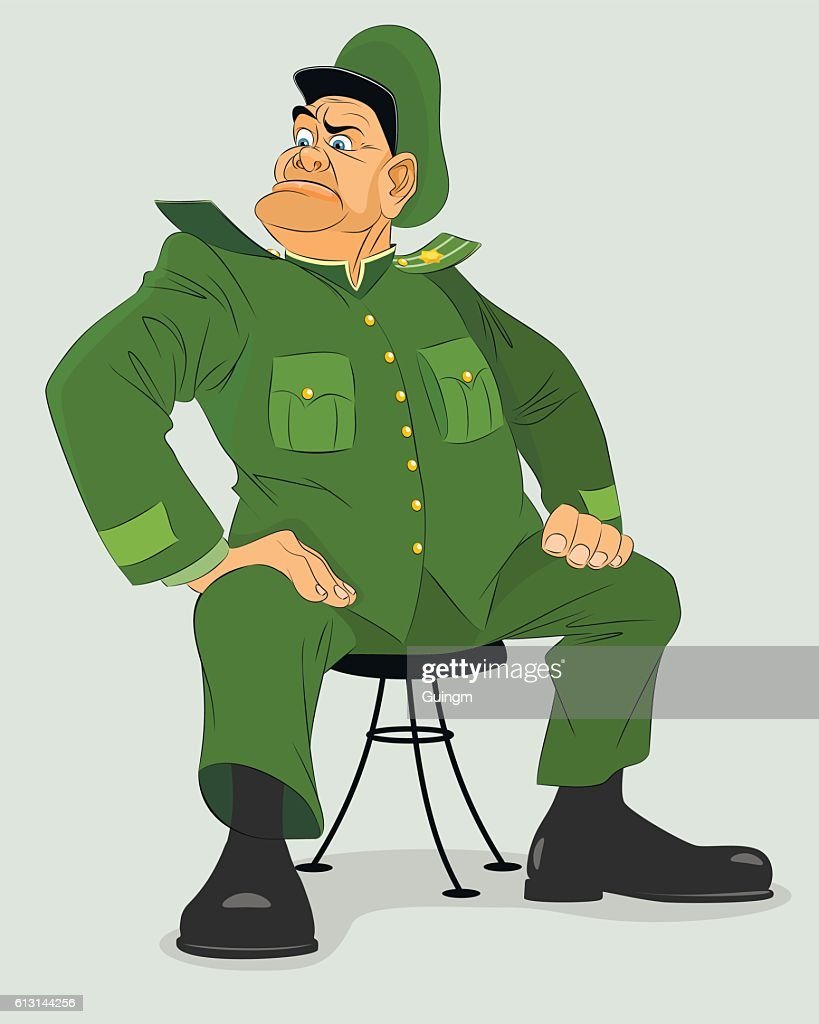 Military general on chair