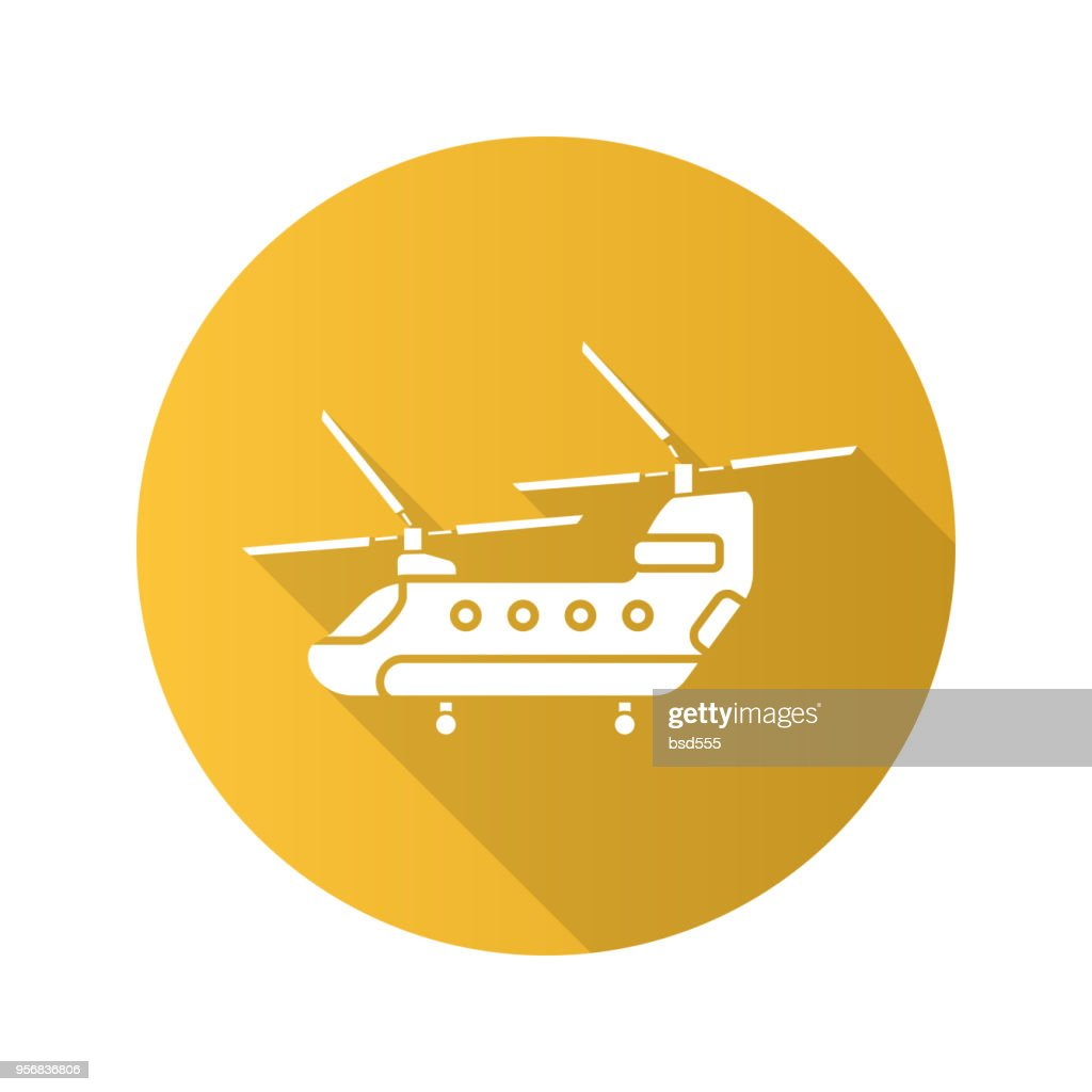 Military helicopter icon