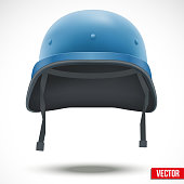 Military helmet of United Nations vector