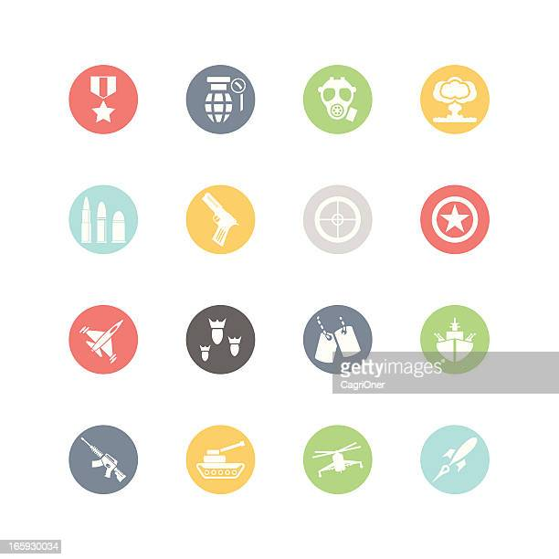 military icons : minimal style - military style stock illustrations