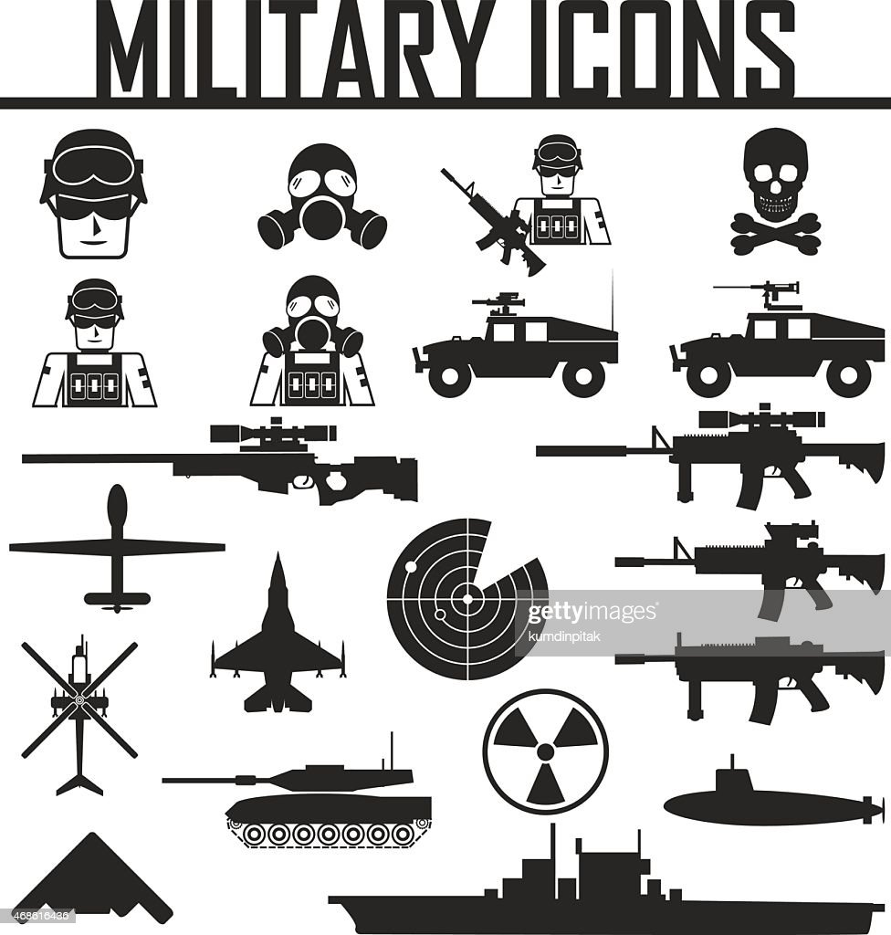 Military icons. vector illustration eps 10.