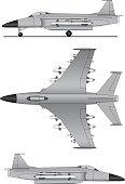 Military jet plane