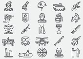Military Line Icons