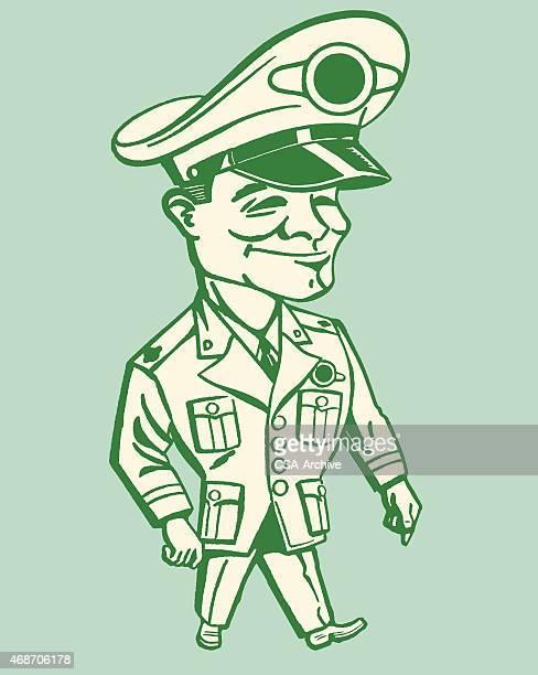 militärische mann - general stock-grafiken, -clipart, -cartoons und -symbole