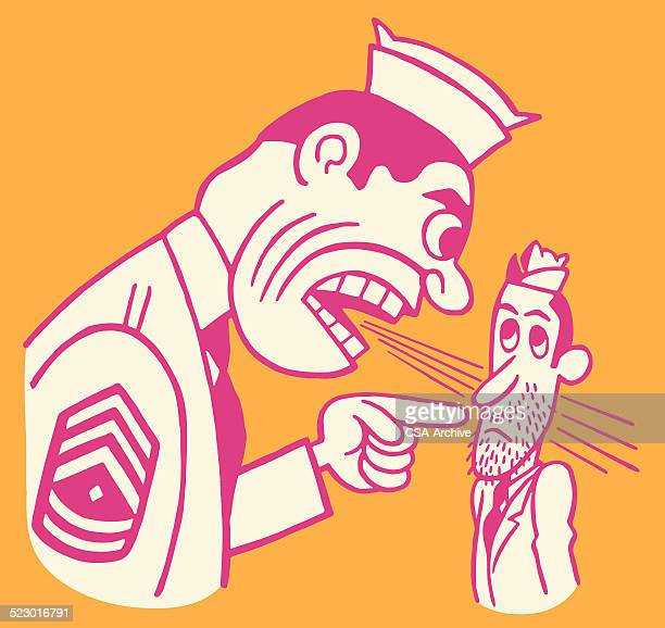 Military Officer Yelling at a Soldier