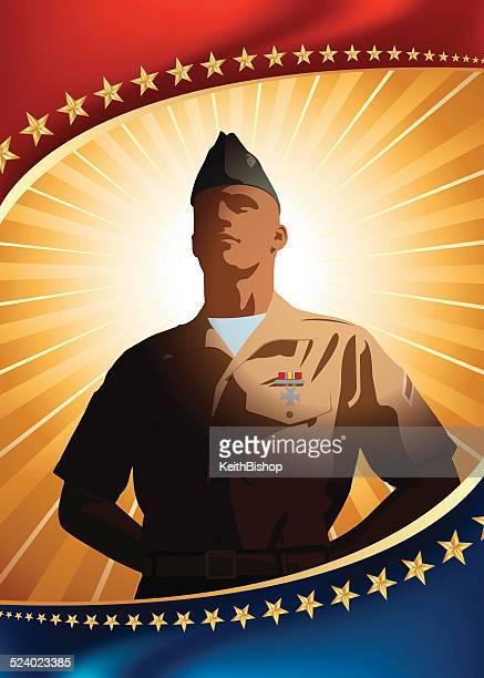 US Military Patriotic Background