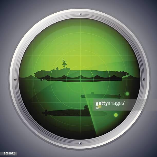 military radar - battleship stock illustrations
