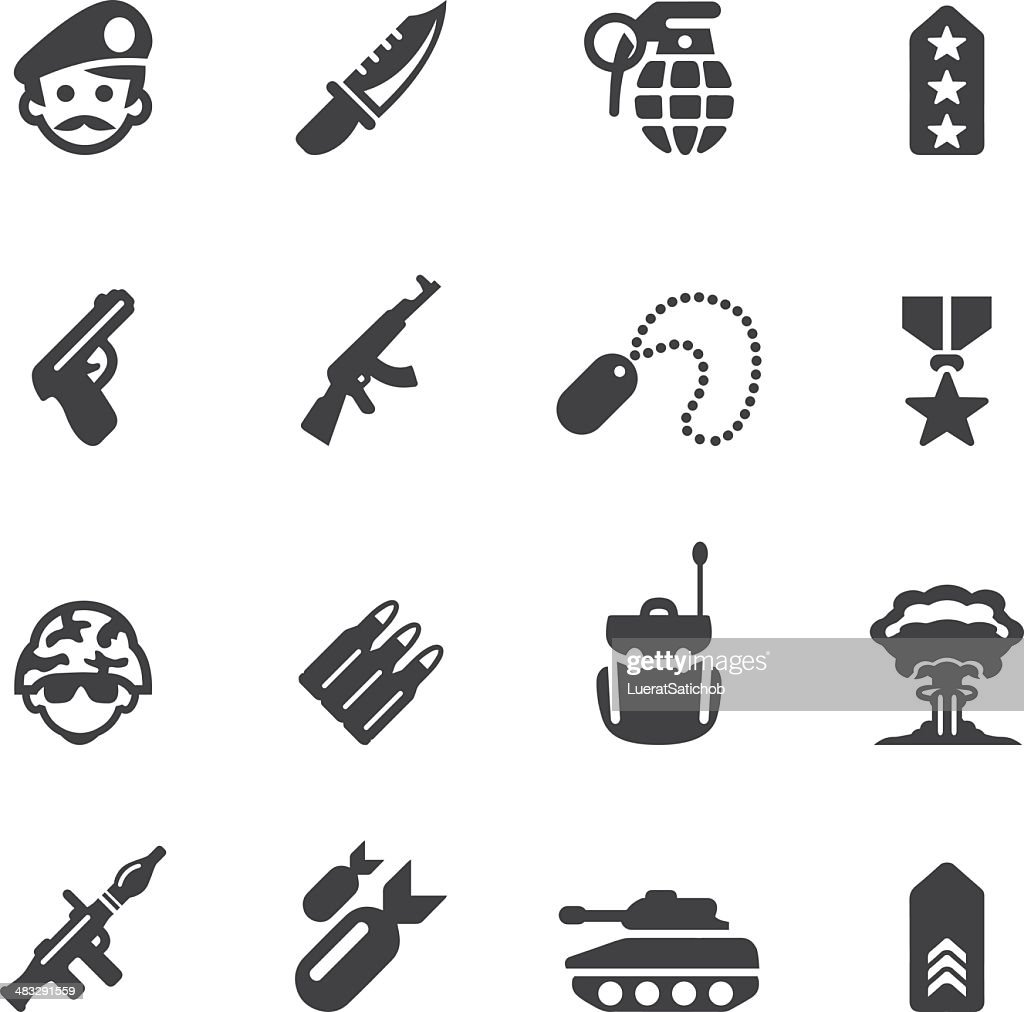 Military Silhouette icons 1