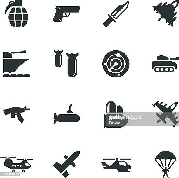 military silhouette icons - military stock illustrations, clip art, cartoons, & icons