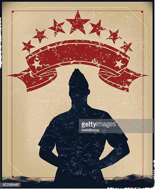 us military soldier background - world war ii stock illustrations