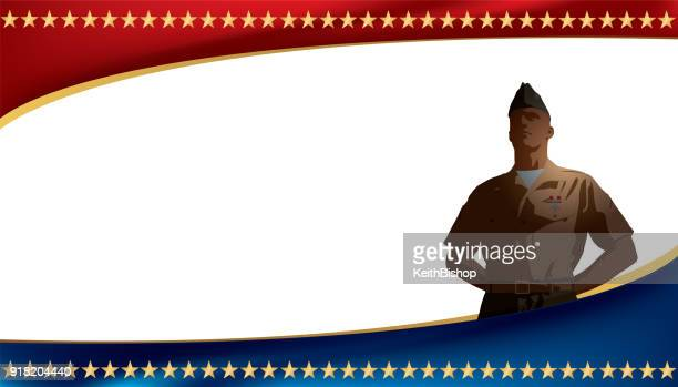 us military soldier background - marines military stock illustrations, clip art, cartoons, & icons