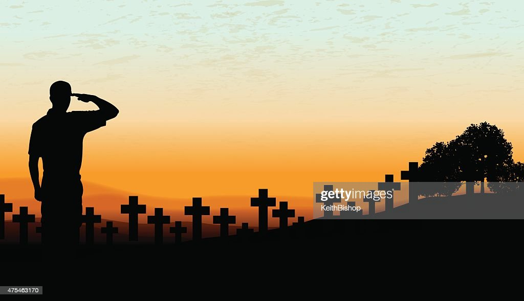 US Military Soldier Cemetery - Holiday Background