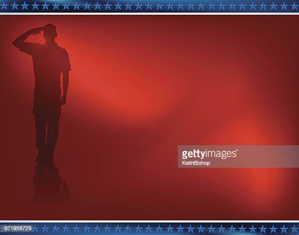 US Military Soldier, Salute Background
