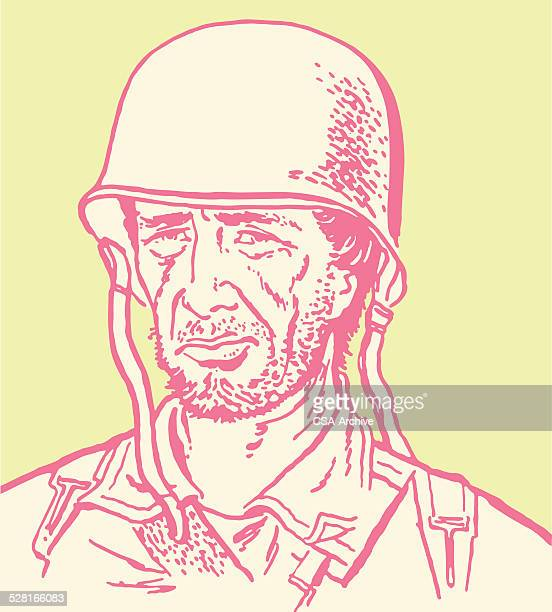 military soldier - post traumatic stress disorder stock illustrations