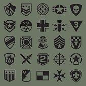 Military symbol icons set
