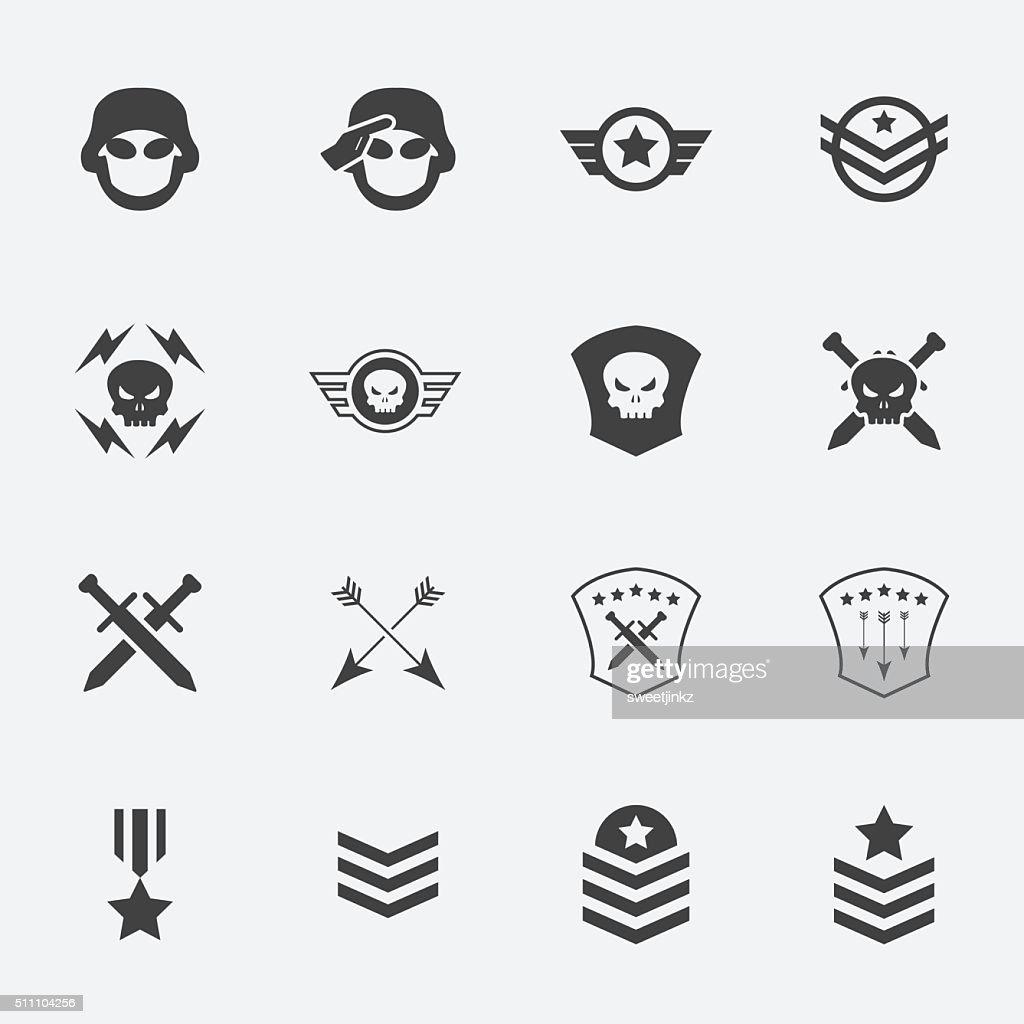 Military symbol icons . vector . illustration.