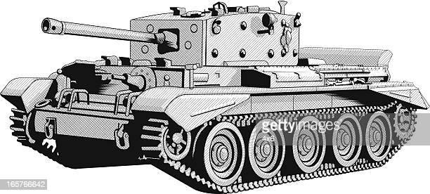 military tank illustration vector - tank stock illustrations, clip art, cartoons, & icons