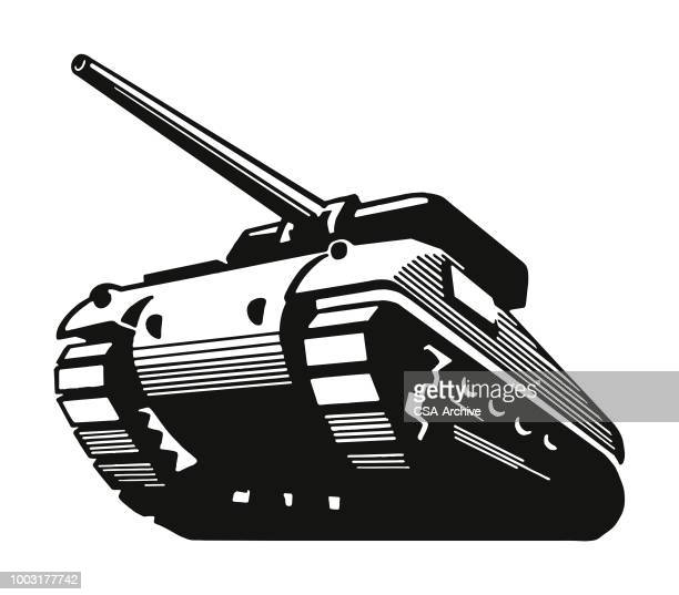 military tank - armored tank stock illustrations