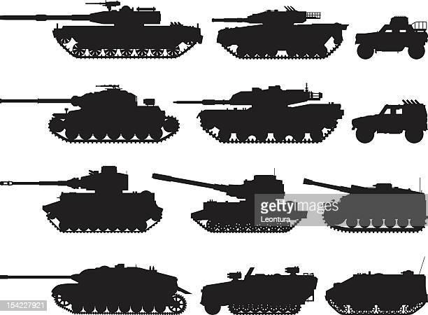 military vehicles - tank stock illustrations
