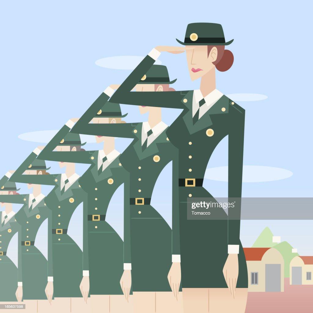 Military Women Salute!