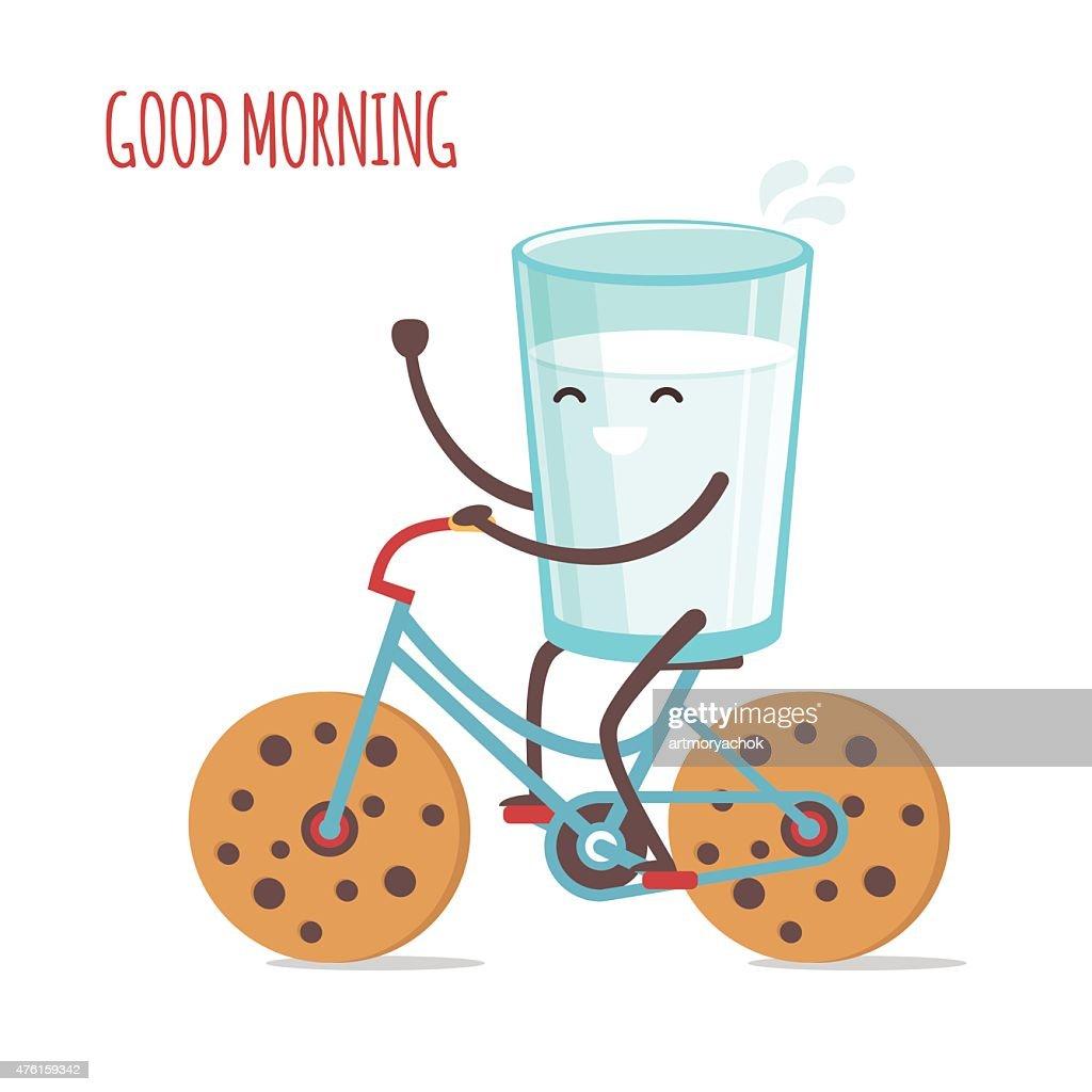 Milk and bike