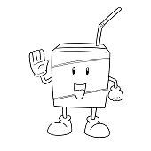 milk box cartoon