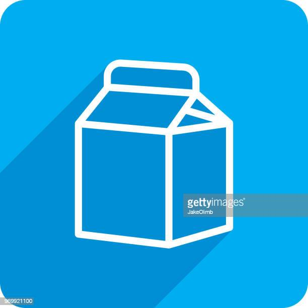 Milk Carton Icon Silhouette