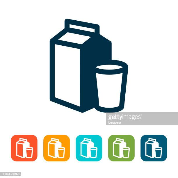 ilustraciones, imágenes clip art, dibujos animados e iconos de stock de icono de la leche. concepto de alimentos y bebidas - botella de leche