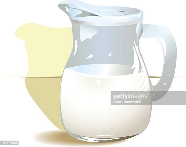 milk pitcher - jug stock illustrations, clip art, cartoons, & icons