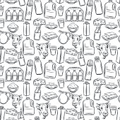 Milk product seamless pattern