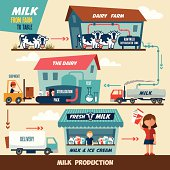Milk production stages