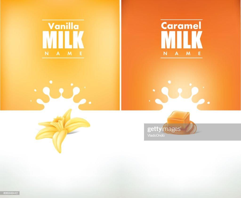 milk splash cream with vanilla and caramel
