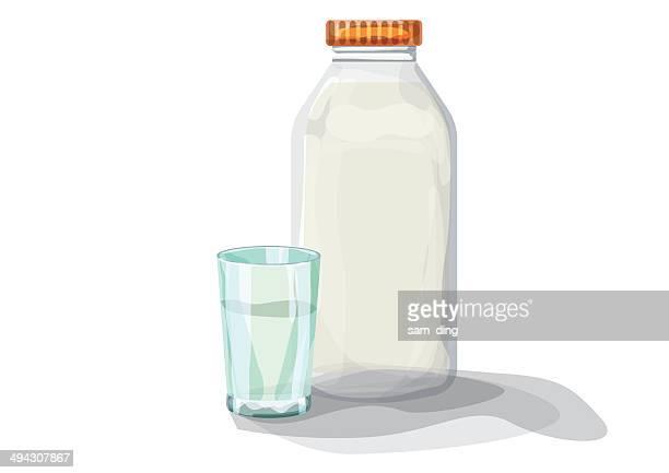 ilustraciones, imágenes clip art, dibujos animados e iconos de stock de leche materna - botella de leche