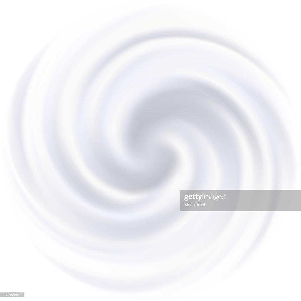 Milk, Yogurt, Cream or cosmetics product Curl background. White swirl.