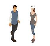 Millennial Couple Spot Illustration