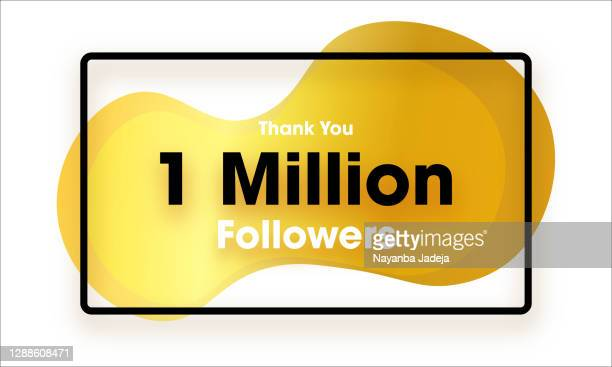 1 million followers banner - following stock illustrations