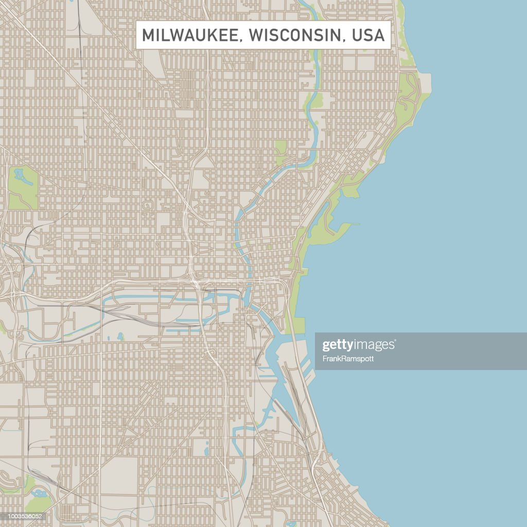 Milwaukee Wisconsin Us City Street Map Vector Art Getty Images