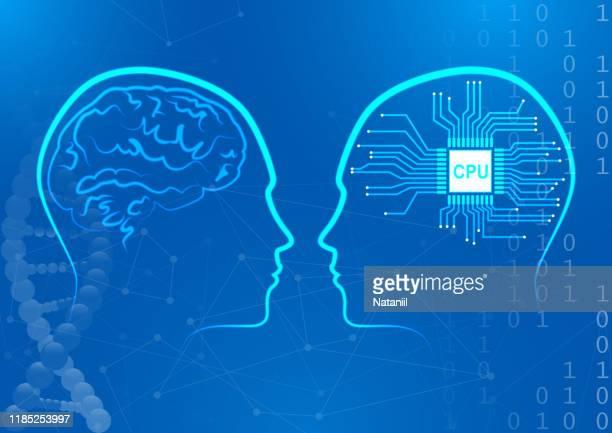 mind concept - gyrus stock illustrations