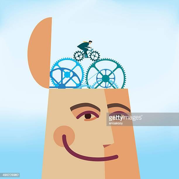 stockillustraties, clipart, cartoons en iconen met mind exercise - match sport