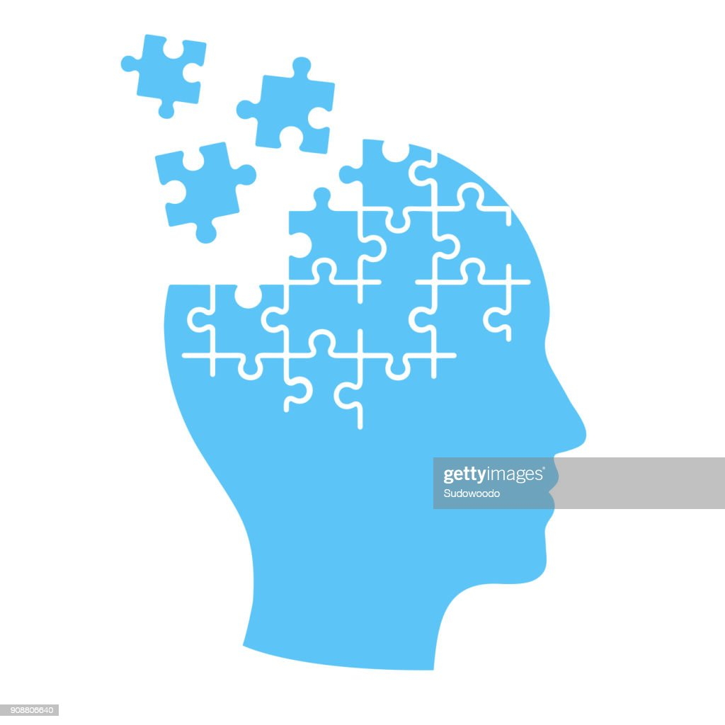 Mind jigsaw puzzle illustration.
