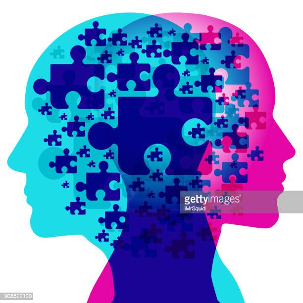mind jigsaw - digital composite stock illustrations, clip art, cartoons, & icons