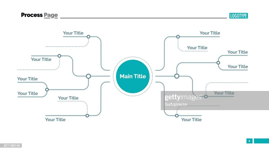 Mind Map Diavorlage Stock-Illustration - Getty Images Dia Map on